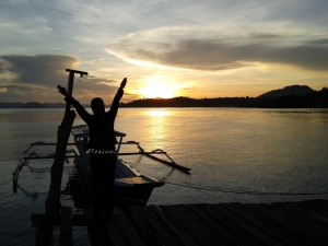 Beautifull sunrise and beautifull me (timpuk!!! :p)